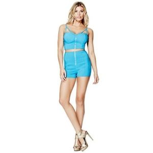 Guess SYLVIA STRAPPY BUSTIER/HOT SHORTS (M)